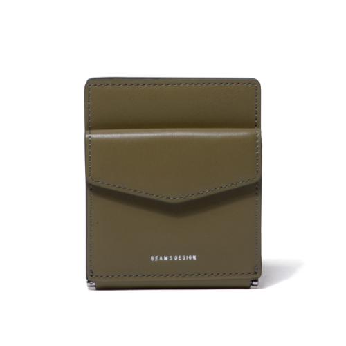 BEAMS DESIGN イタリアエコ 札ばさみ式折り財布